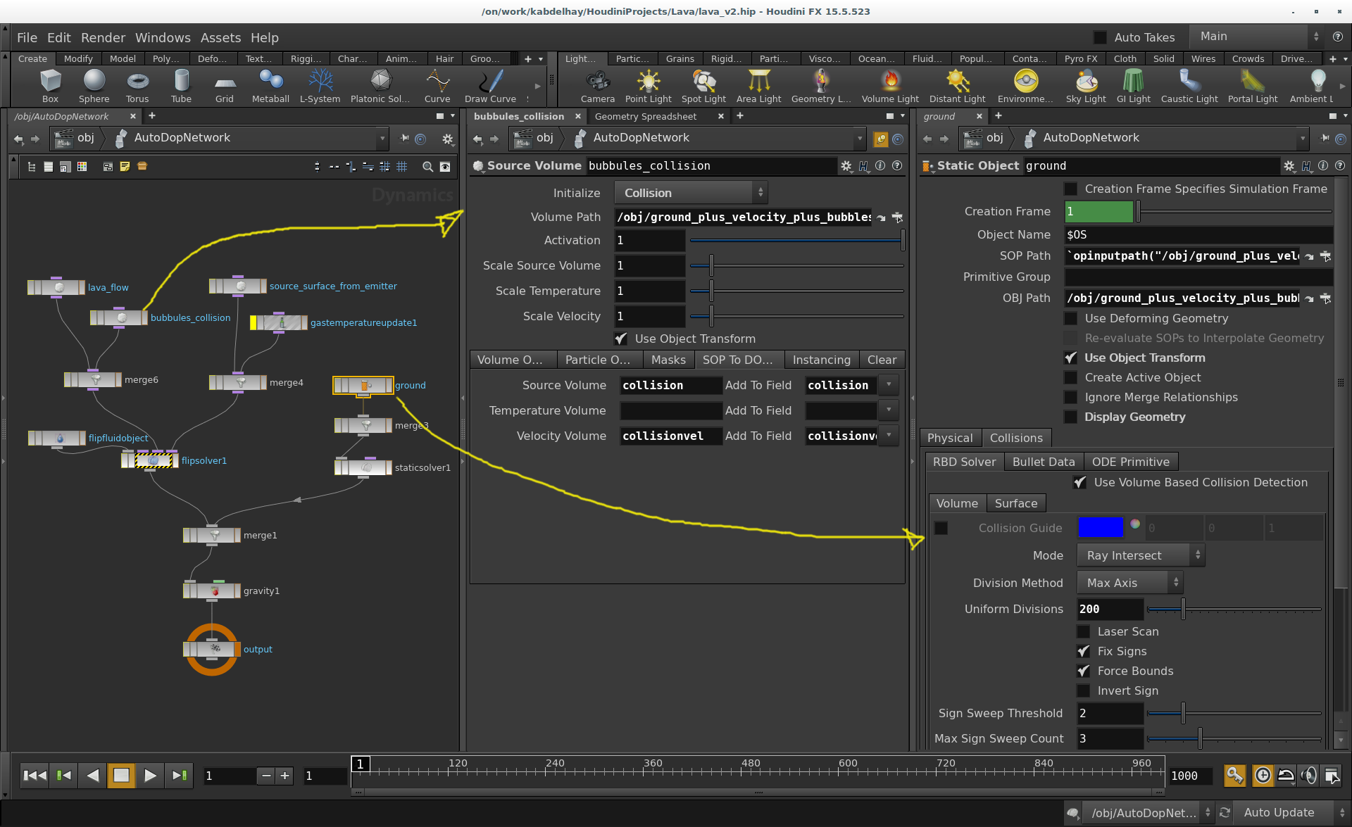 FLIP Particles Exploding? - General Houdini Questions - od|forum