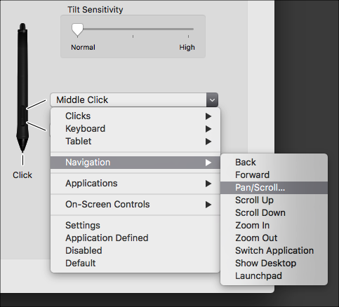 menu pan/scroll with wacom pen? - General Houdini Questions - od|forum