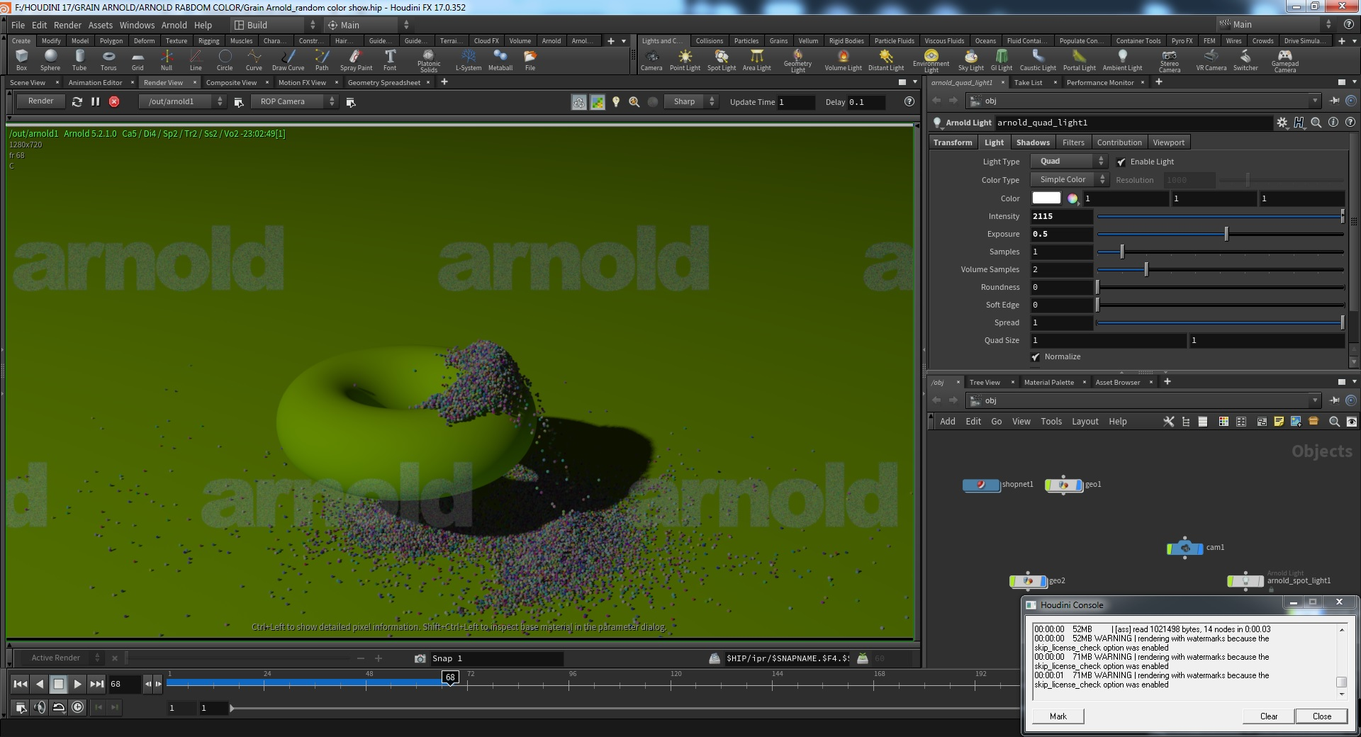 Arnold for Houdini 17  Anyone got it to work? - Lighting