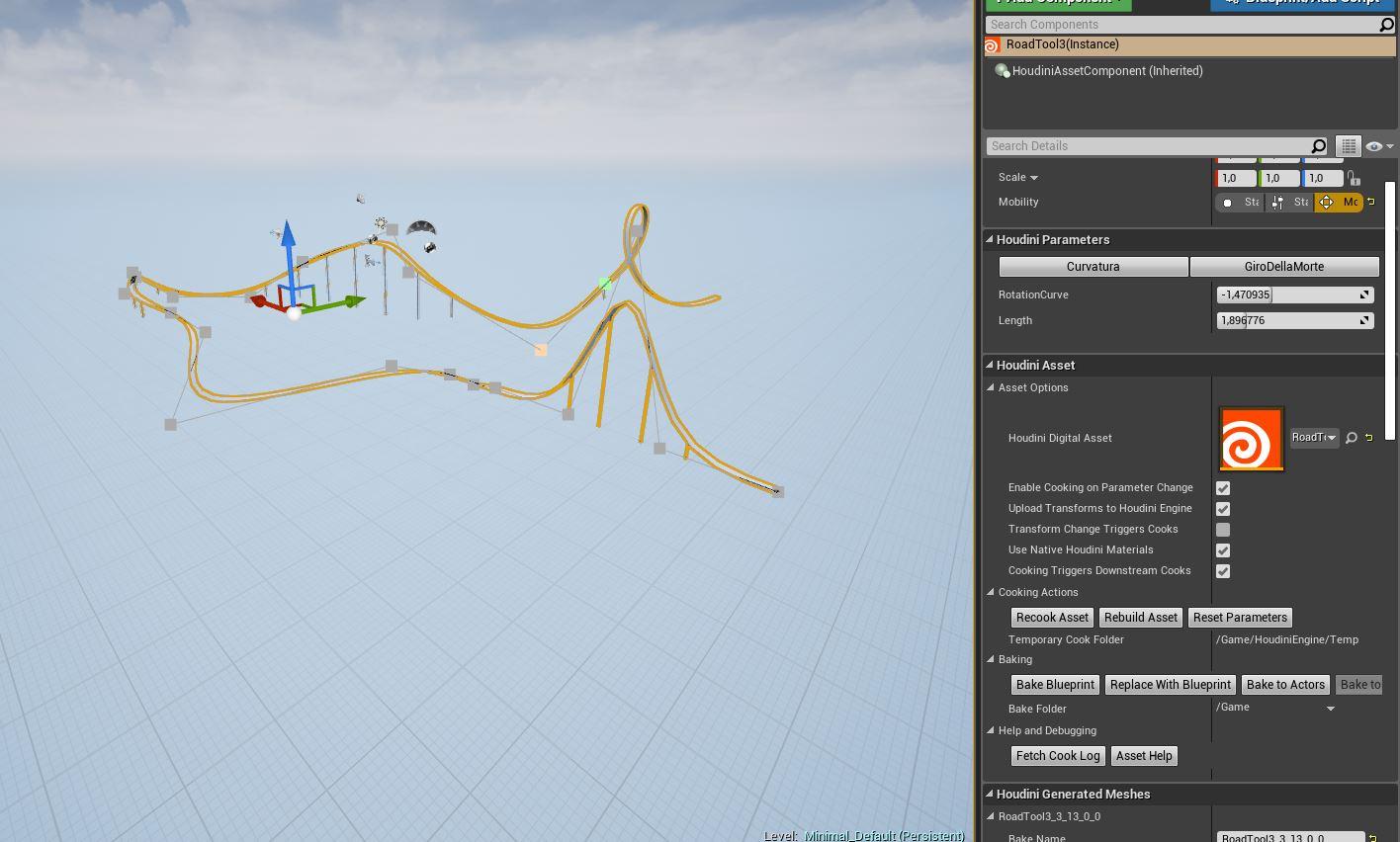Procedural Spline generator from Houdini to Unreal - Games - od forum