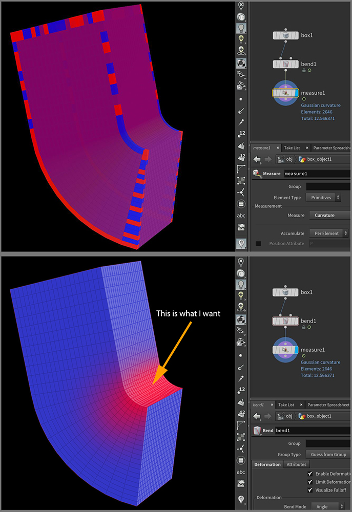 I need to visualize compressed areas of deformation